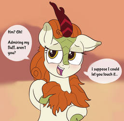 Autumn Blaze Being Coy by baratus93
