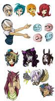 KoKN Headshot Coms by Miyanko