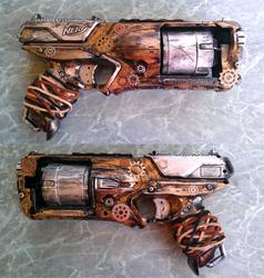 Steampunk Nerf Gun by shmemcat