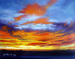 A Welcoming Sunset to El Paso by Ravenhaven