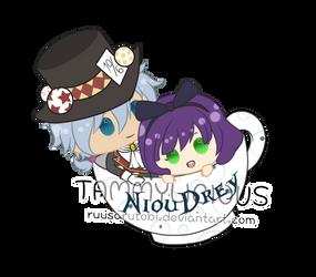 [Chibi CM 180906] NiouDrey in Wonderland by ruusarutobi