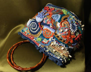 Freeform handbag, sea theme by JL-freeform