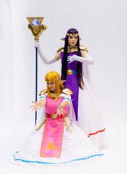 Hirule And Lorule Princessses by lelistar