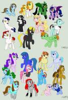 Pony OC's!!! by VickyViolet