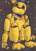 Art Card 27 - Golden Freddy by VickyViolet