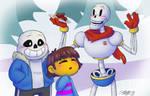Skeleton Friends by VickyViolet