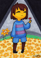 Art Card 32 - Frisk by VickyViolet