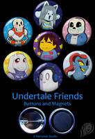 Undertale Friends Set by VickyViolet