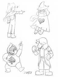 Deltarune Doodles 1 by VickyViolet