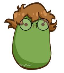 Smol Green Bean by VickyViolet