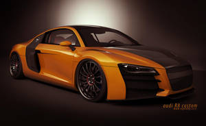 audi R8 orange_1 by 3dmanipulasi