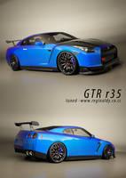 nissan skyline GTR r35 -teaser by 3dmanipulasi