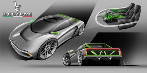 Bertone Speedster by 3dmanipulasi