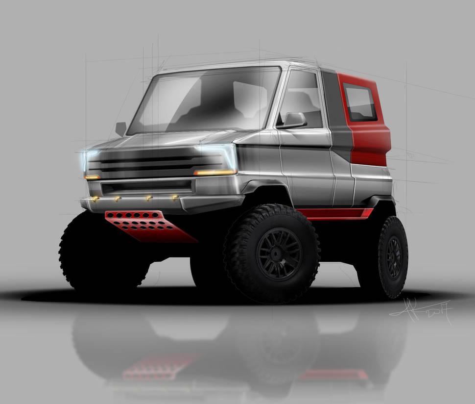 Mini Trucker by 3dmanipulasi