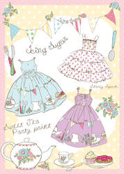 Tea Party Print Concept by decora-rockstar