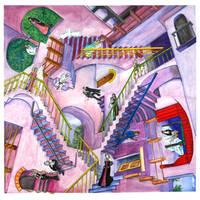 Stairways by Lauralanthalasa