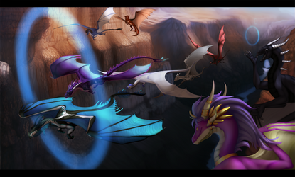 Dragon race by MiraellKlaymorius