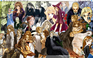 Draco and Hermione Collage by ivyrose