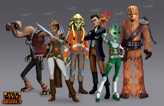 Star Wars Rebels Concept - Young Pirates by Brian-Snook