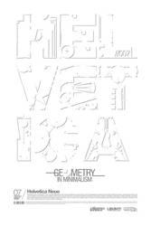 Helvetica Science Series 007 + in Minimalism + by LouieHitman