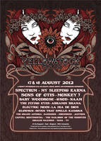 Yellowstock festival Poster by Johannahoj