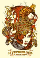 Radio Moscow | Glowsun + typo by Johannahoj