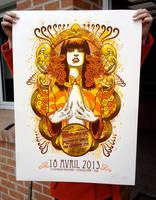 The Moon silkscreen poster by Johannahoj