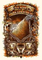 Iron Walrus poster tour 2014 by Johannahoj