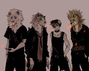 grunge band by sqaceiinvader