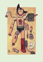 Astro Boy construction by Sapolendario