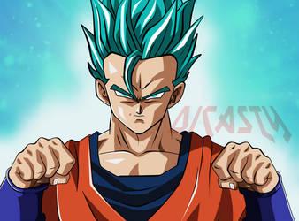 Gohan Super Saiyan Dios Azul by dicasty1