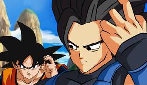 Goku vs Saiyajin Dragon ball Legends by dicasty1
