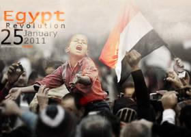 Egypt Revolution by mynameleroi