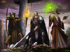 Dungeons, Weapons and Tactics : 3 Heroes by Serathus