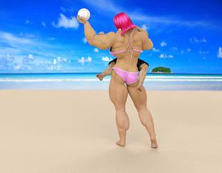 Amazon Girlfriend at the Beach#22 by Mrlex303