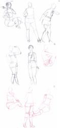 Yuffie Kisaragi cosplay - sketch 2min by chat-de-gouttiere