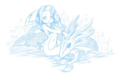 Furry Mermaid by tommychan