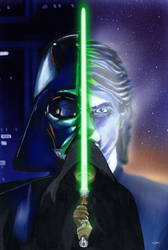 Luke Skywalker's lightsaber by Ticiano