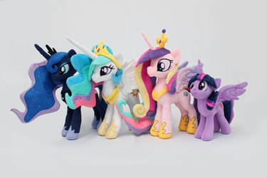 MLP Princesses Plushies by nekokevin