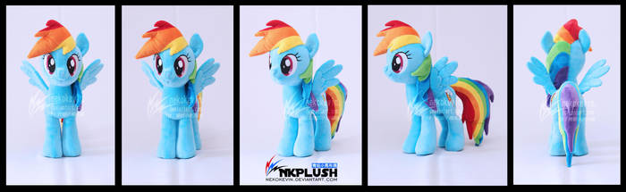 Rainbow Dash plush by nekokevin