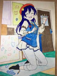 Love Live School Idols Umi Sonoda Paint fun  by Usagicrystal12