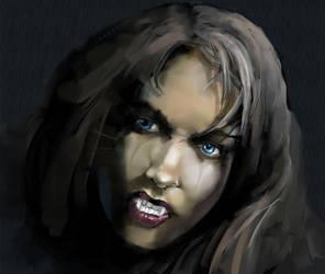 vampire portrait by szalstudio