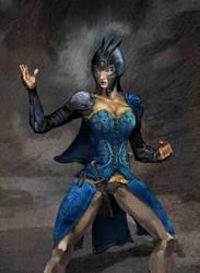 warrior woman by szalstudio