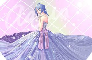 Aqua Kingdom Hearts Dress by BayneezOne