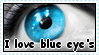 I love blue eyes stamp by RogueLottie