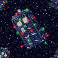 TARDIS Christmas wallpaper by Alex-Plalex