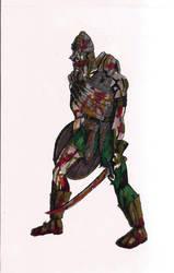 Zombie warrior by DarkHestur