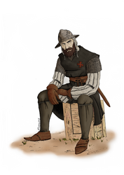 Knight Templar sargeant - colored by DarkHestur
