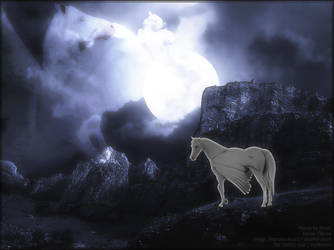 Alina at moonlight by RoverBlitz
