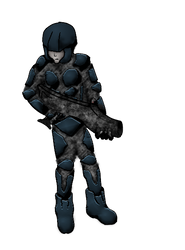 Sci fi soldier photoshopped by SplinterFleetAlta